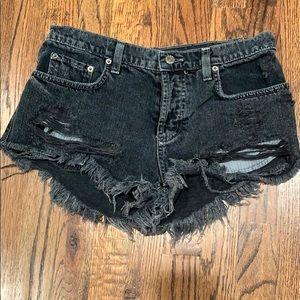 Carmar Gray Denim Shorts